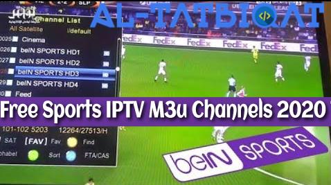 Free Sports IPTV M3u Channels 2020 Today