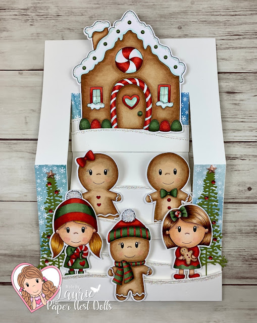 My Gingerbread Fun Fold Card Showing Layers