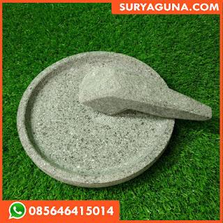 Cobek Asli Batu Diameter 30 cm
