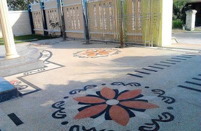Desain Motif Batu Sikat Bunga