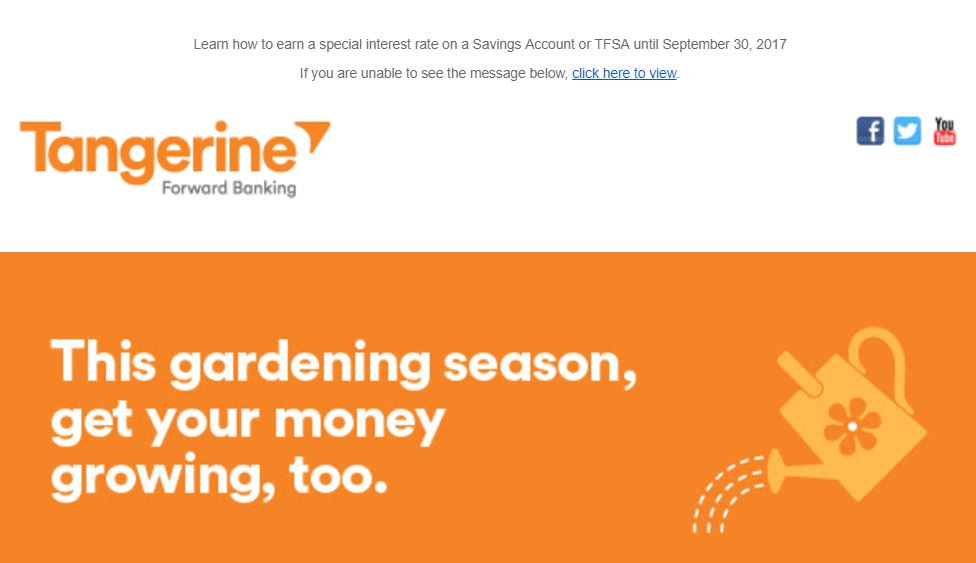 tangerine savings rate