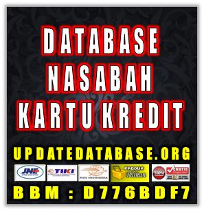 Jual Database Nasabah Pemilik Kartu Kredit Fresh
