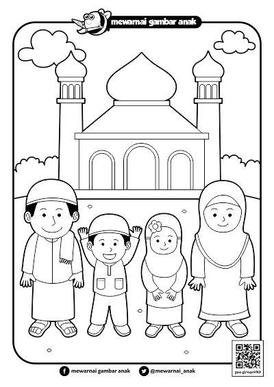 Contoh Gambar Lomba Mewarnai Anak Muslim Kataucap Cute766