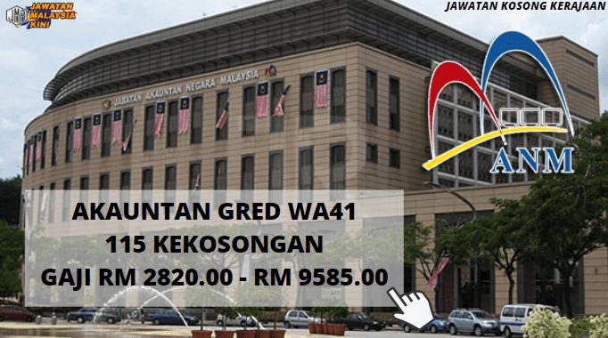 JAWATAN KOSONG JABATAN AKAUNTAN MALAYSIA / GAJI RM2,820.00 HINGGA RM9,585.00