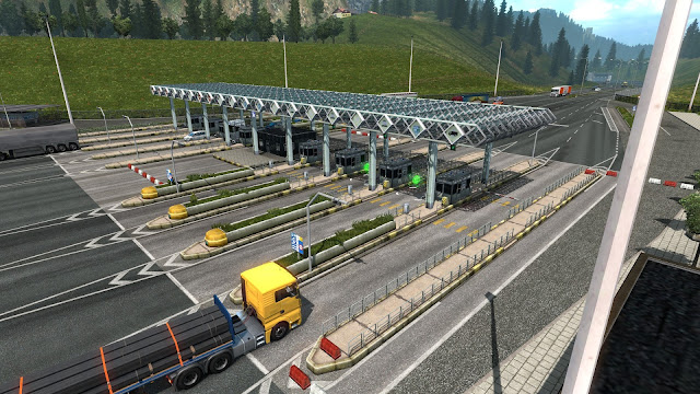 ets 2 automated tollgates in austria & poland screenshots 1
