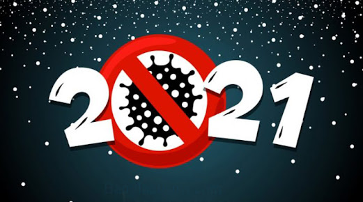 happy new year banner coronavirus