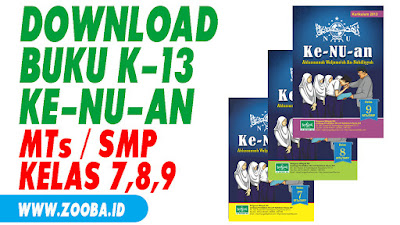 Download Buku Ke-NU-an Kelas VII, VII, IX MTs/SMP K-13