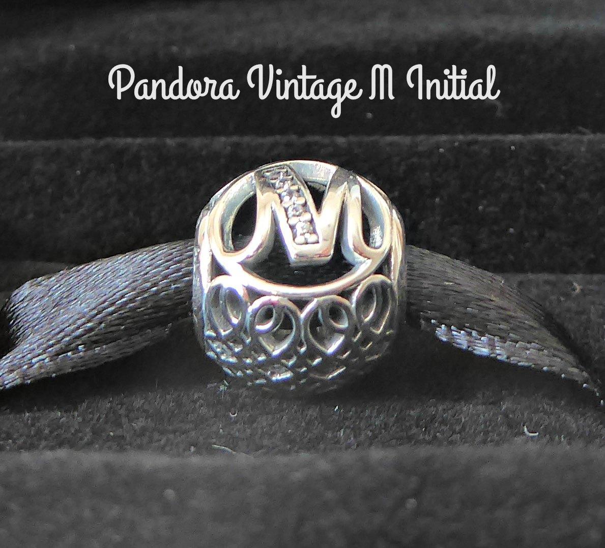 pandora charm initial m