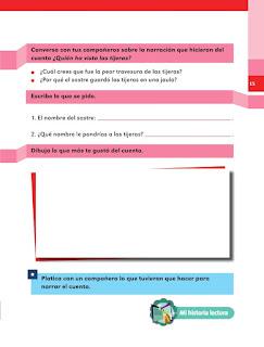 Apoyo Primaria Español 1er grado lección 4 Contemos un cuento