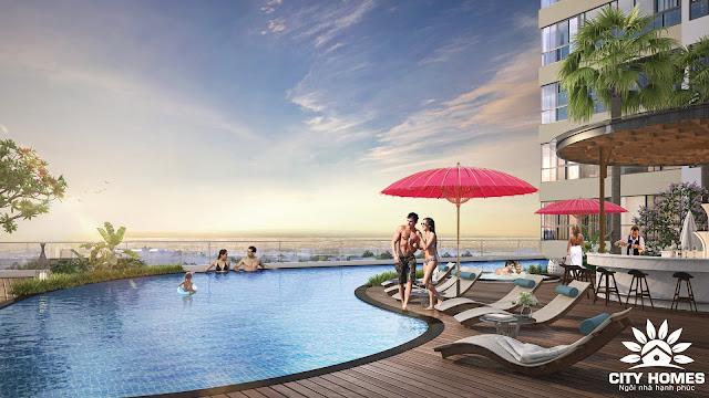 Bể bơi dự án Hinode City Minh Khai