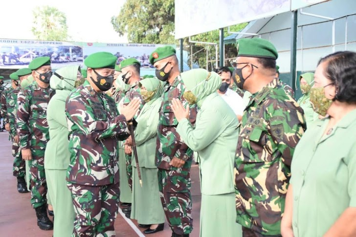 Brigjen TNI Djashar Djamil, Menerima Laporan Korps Kenaikan Pangkat
