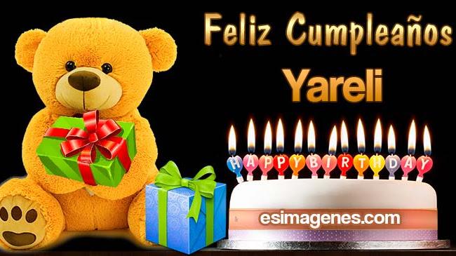 Feliz Cumpleaños Yareli