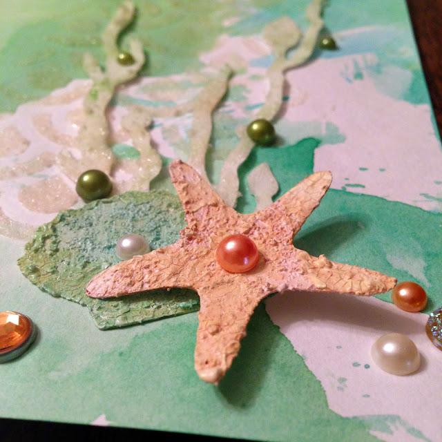 detail of starfish in corner