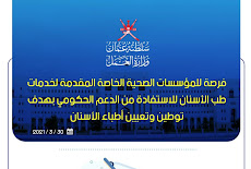 وزارة العمل تدعو المؤسسات الصحية الخاصة  الاستفادة من الدعم الحكومي