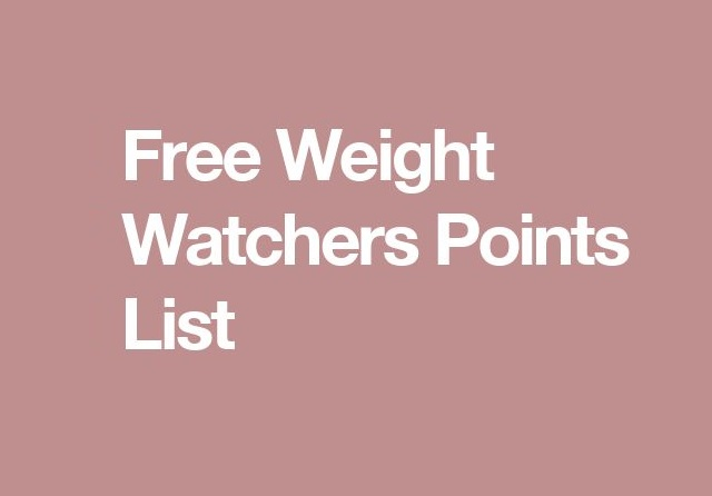 free weight watchers points list. Black Bedroom Furniture Sets. Home Design Ideas