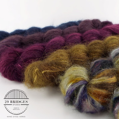 fuzzy textured yarn and logo