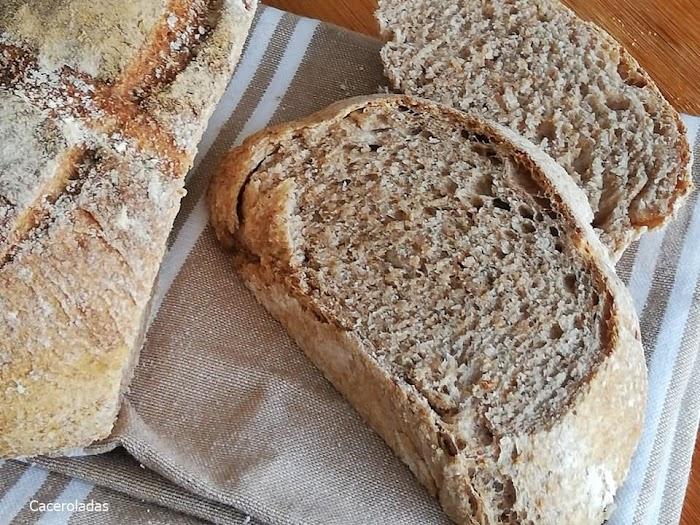 Pan casero con harina integral fácil y rápido