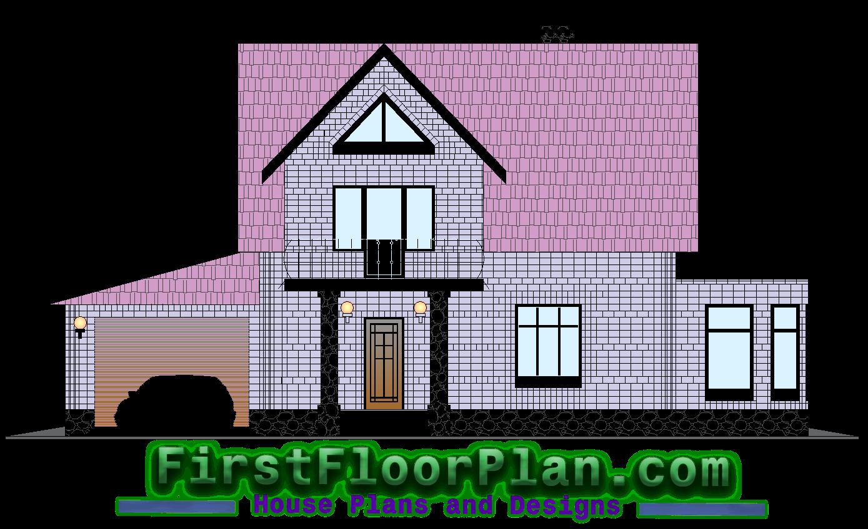 Duplex house front elevation