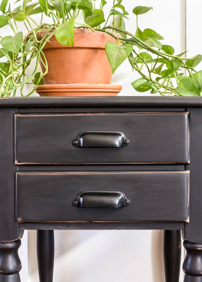 matte black furniture hardware