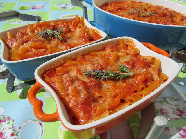 Macarrones express con tomate
