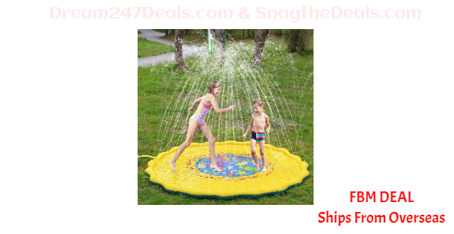 "80% OFF 67"" Kids Sprinkle and Splash Play Mat"
