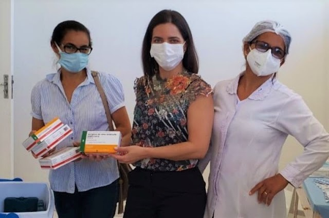 Governo do Estado envia 290 doses da Sinovac/Butantan para Seabra