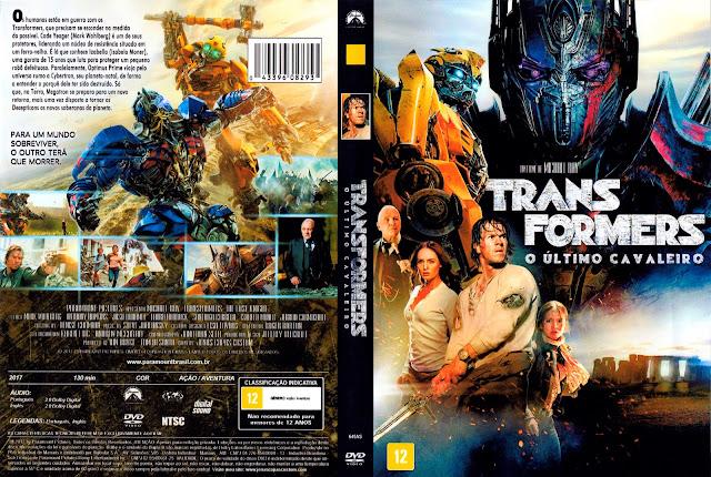 Capa DVD Transformers: O Último Cavaleiro