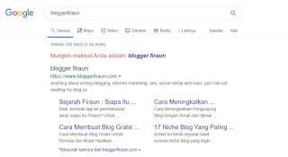Penampakan sitelink milik blogger firaun