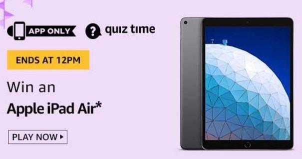 Amazon Quiz Answers Today 22 May Win Apple IPad Air