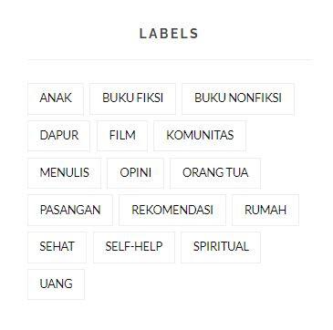tampilan label blog