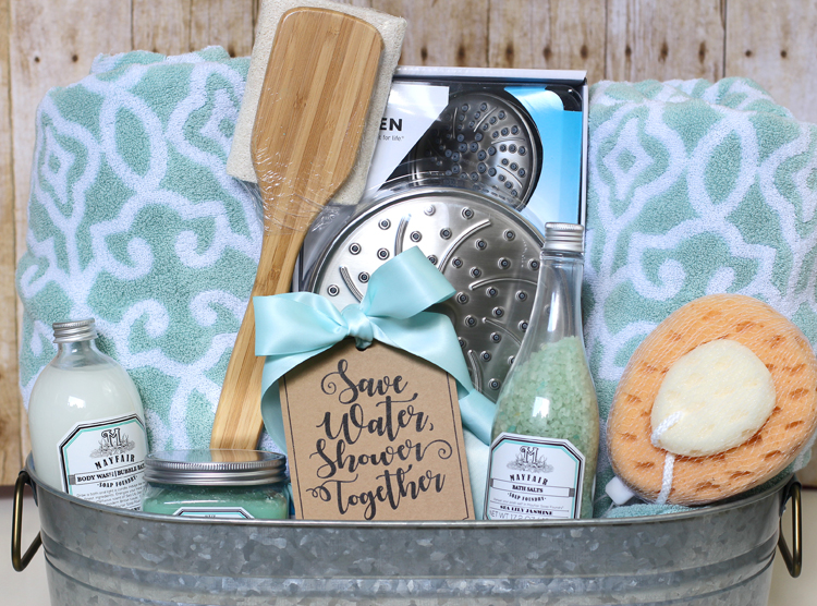 The Craft Patch: Shower Themed DIY Wedding Gift Basket Idea