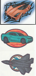 Need4Speed 2 #1 sticker with Pocket Patches fabric tattoos #3 and 6)