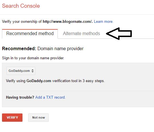 Add Website To Google Webmaster Tools 2