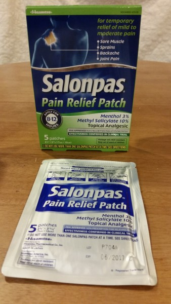 FREE SAMPLE OF SALONPAS PAIN RELIEVING PATCH