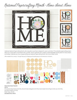 National Papercrafting Month—Home Sweet Home flyer page 1