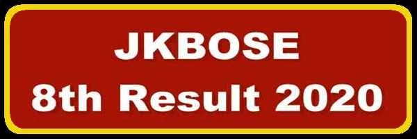 [J&K-DIET] Search JKBOSE 8th Class Result Roll Number & Name Wise 2020 - All Districts