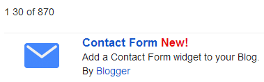 New Contact Us widget on Blogger