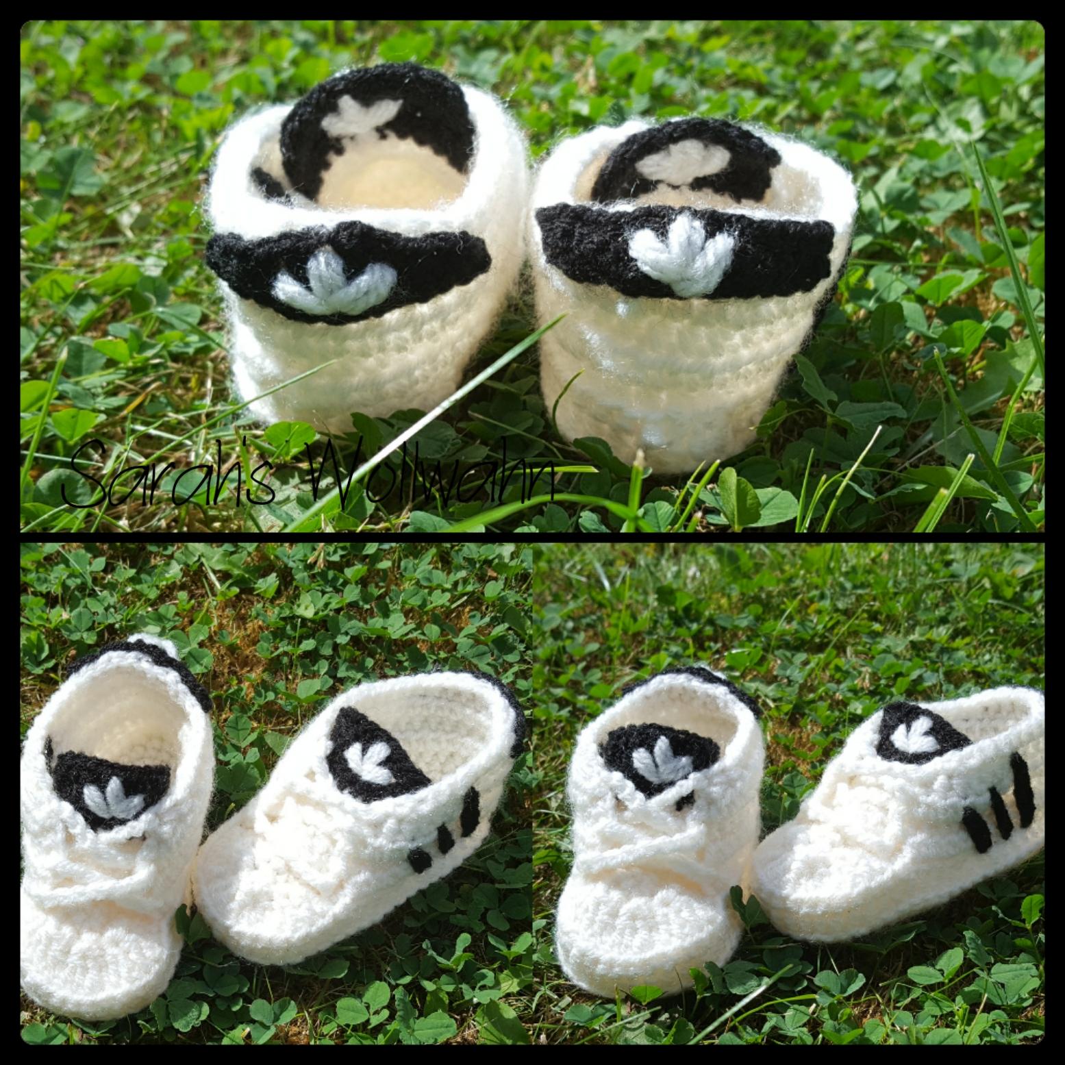 Sarah´s Wollwahn: Baby Schuhe Häkeln