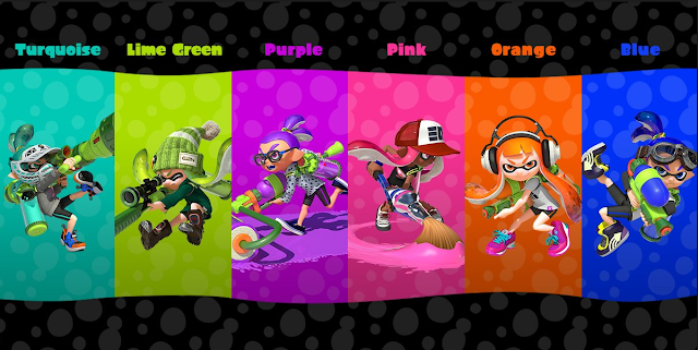 Splatoon Inkling Colors