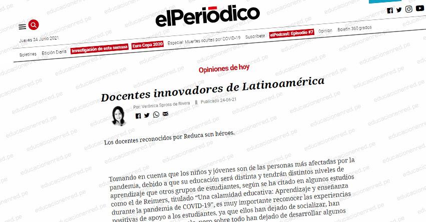 Docentes innovadores de Latinoamérica (Verónica Spross de Rivera)