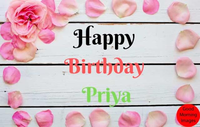 Birthday cake images with name priya