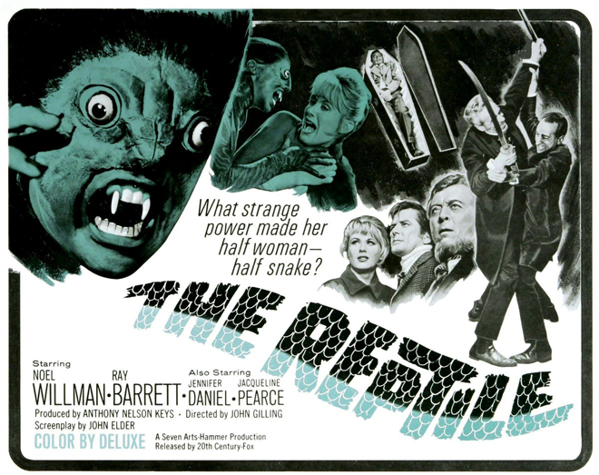 The Reptile 1966 póster