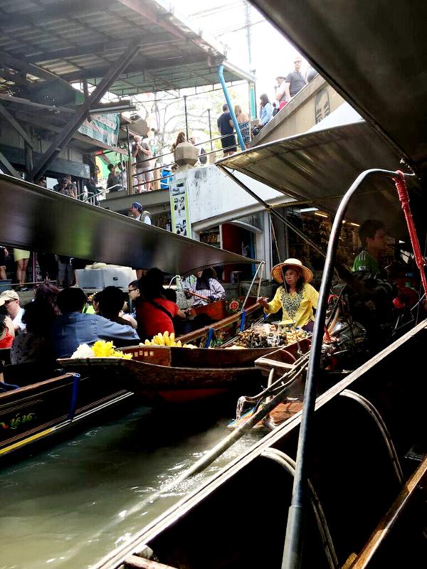 thailand, bangkok, flytande marknaden, marknad, sevärdheter, uppleva thailand, floating market,