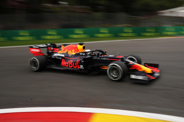 Max Verstappen of the Netherlands driving the (33) Aston Martin Red Bull Racing RB16 on track during practice for the F1 Grand Prix of Belgium at Circuit de Spa-Francorchamps on August 28, 2020 in Spa, Belgium. (Photo by Francisco Seco/Pool via Getty Images)