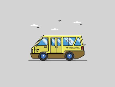 gambar mobil kartun untuk anak