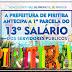 Prefeitura de Piritiba antecipa primeira parcela do 13º salário dos servidores públicos