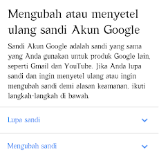 Cara Mengganti Password Akun Google ; Youtube, Gmail, Blogger, Dll  ; Lewat Hp Android