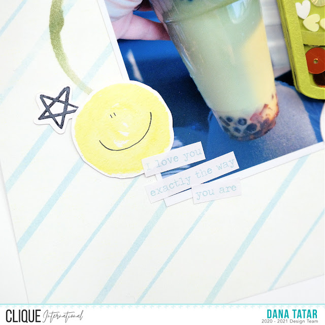 How to Embellish a Photo with Stickers and Die-Cuts on a Coffee Lovers Scrapbook Layout