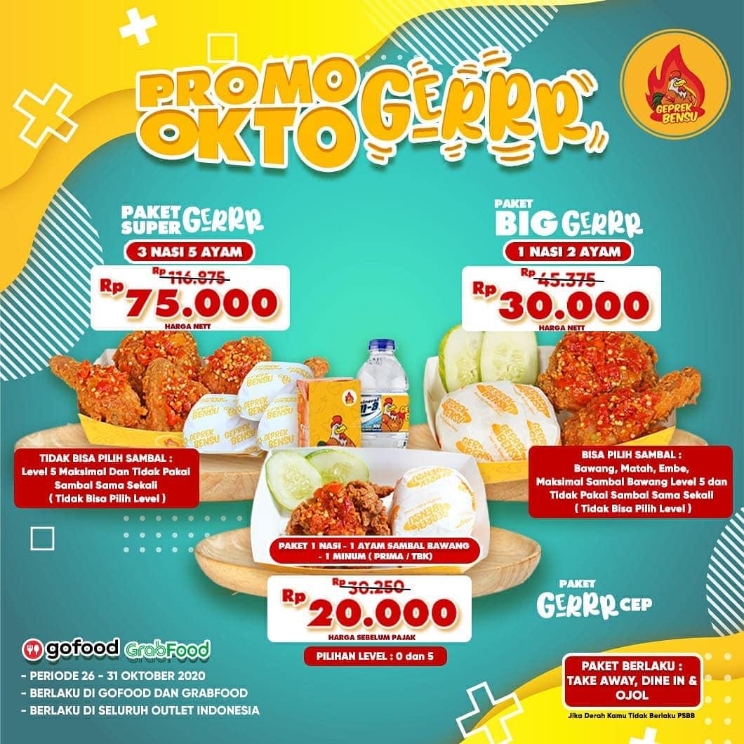 Promo Geprek Bensu Terbaru Harga Spesial Paket Mulai Rp20 000 Periode 26 31 Oktober 2020 Harga Diskon