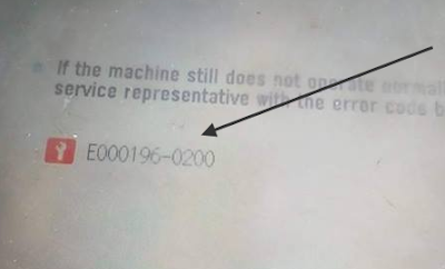 Solusi Kode Error E000196-0200 Fotocopy Canon IR